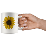"""LYD M. DOLORES: Sun Lover"" 11oz Coffee Mug (White)"