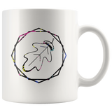 """AO APPAREL: Neon OakCorn"" 11oz Coffee Mug (White)"