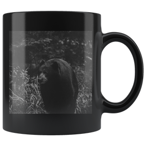 """NICK WILLIAMS: Black Bear"" - 11oz Black Coffee Mug"
