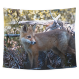 """Red Fox"" Tapestry: Small, Medium, and Large Sizes Available"