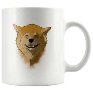 """LYD M. DOLORES: Doggy Smiles"" - 11oz White Coffee Mug"