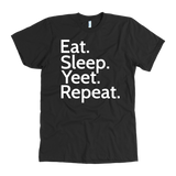 """AO APPAREL: Eat. Sleep. Yeet. Repeat."" American Apparel T-Shirt (Black)"