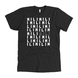 """COUCH COVERS: Many MiLi"" American Apparel T-Shirt (Black)"