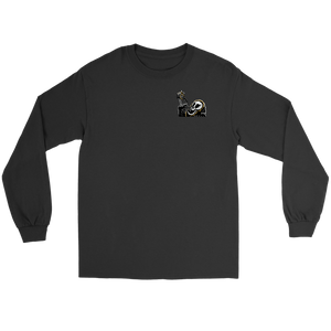"""AO APPAREL: Coffee To The Coffin"" Gildan Long Sleeve T-Shirt (Multiple Colors Available)"