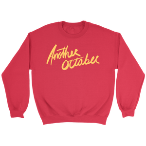 """ANOTHER OCTOBER: Aloha Scratch"" Unisex Crewneck Sweatshirt (Red)"