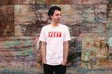 """AO APPAREL: Yeet Red Box"" American Apparel T-Shirt (White)"