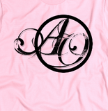 """ANOTHER OCTOBER: Script"" American Apparel T-Shirt (Pink)"