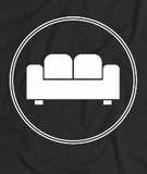"""COUCH COVERS: Couch Covers Logo"" American Apparel T-Shirt (Black)"
