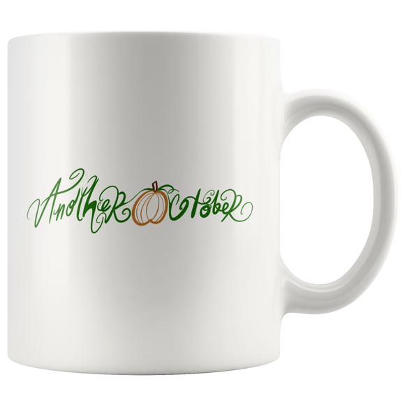 Another October Cursive Logo - 11oz Mug