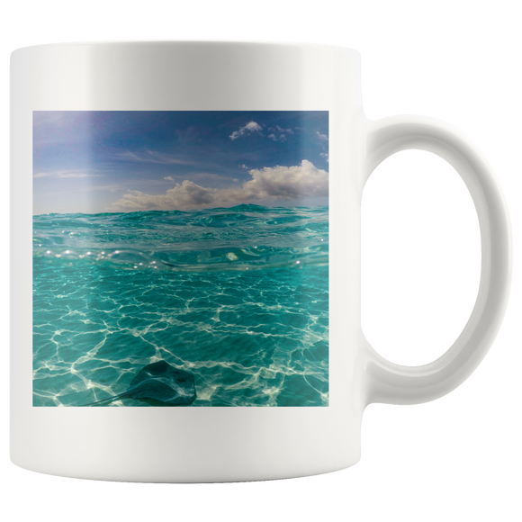 """NICK WILLIAMS: Beach Vibes"" 11oz White Coffee Mug"
