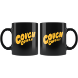 """COUCH COVERS: Couch Covers!"" 11oz Coffee Mug (Black)"
