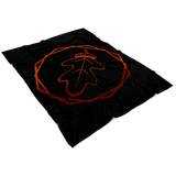 """AO APPAREL: Crimson OakCorn"" Fleece Blanket (Small, Medium, and Large Sizes Available)"
