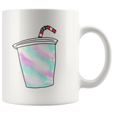 """90's COLLECTION: Funky Cup"" 11oz Coffee Mug (White)"