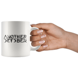 """ANOTHER OCTOBER: Hieroglyphics"" 11oz White Coffee Mug"