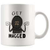 """AO APPAREL: Get Mugged"" 11oz Coffee Mug (White)"