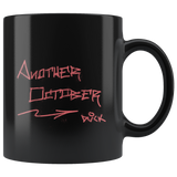 """DVCK: Another October Pink Graffiti"" - 11oz Black Coffee Mug"