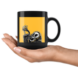 """AO APPAREL: Coffee To The Coffin"" 11oz Black Coffee Mug"