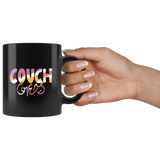 """COUCH COVERS: Sunset Colorway"" 11oz Coffee Mug (Black)"