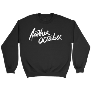 """ANOTHER OCTOBER: Scratch Design"" Black Unisex Crewneck Sweatshirt"