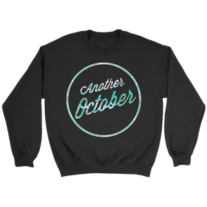"""ANOTHER OCTOBER: Floral & Fading"" - Black Unisex Crewneck Sweatshirt"