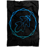 """AO APPAREL: Cobalt OakCorn"" Fleece Blanket (Small, Medium, and Large Sizes Available)"