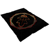 """AO APPAREL: Iridescent OakCorn"" Fleece Blanket (Small, Medium, and Large Sizes Available)"
