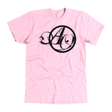 """Pink Another October Script Design"" - American Apparel Tee"