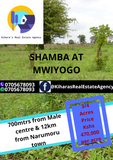 3/4 shamba at Mwiyogo 700 mtrs frm male town, 12km from Male town