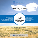 1/8 acre residential plots at Lesessia, Taveta.