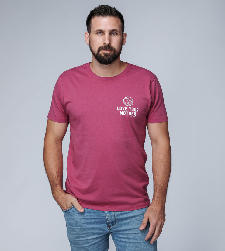 LOVE YOUR MOTHER - Men's T-Shirt Berry