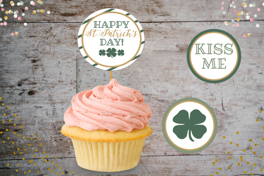 Free & Cute - St. Patricks Day Cupcake Toppers! Lets sprinkle your cupcake with luck!