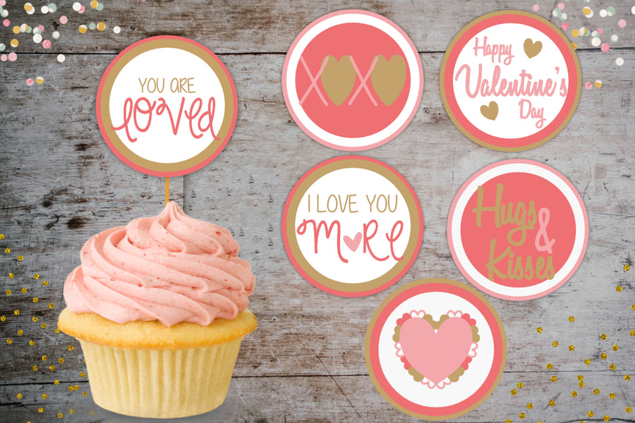 Grab These Cute, Valentine's Day Cupcake Toppers FREE, let Cupid sprinkle your cupcake with love...