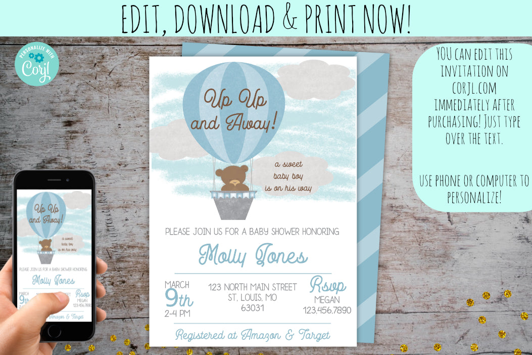 Baby Shower Invitations & Party Extras