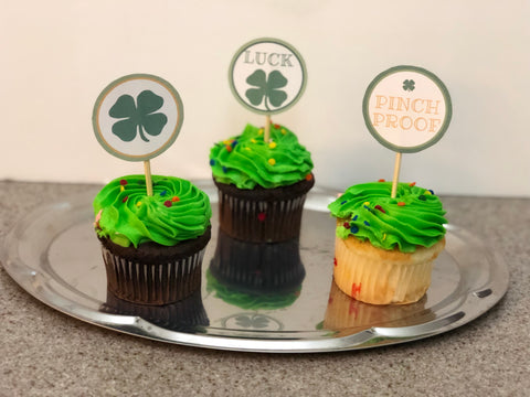 St. Patricks Day Cupcake Topper Freebie designLEE Studio