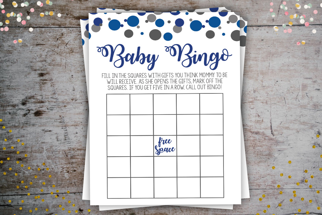 Confetti Bingo Cards - Confetti Party Package, Digital Download, designLEE Studio, designLEE Studio