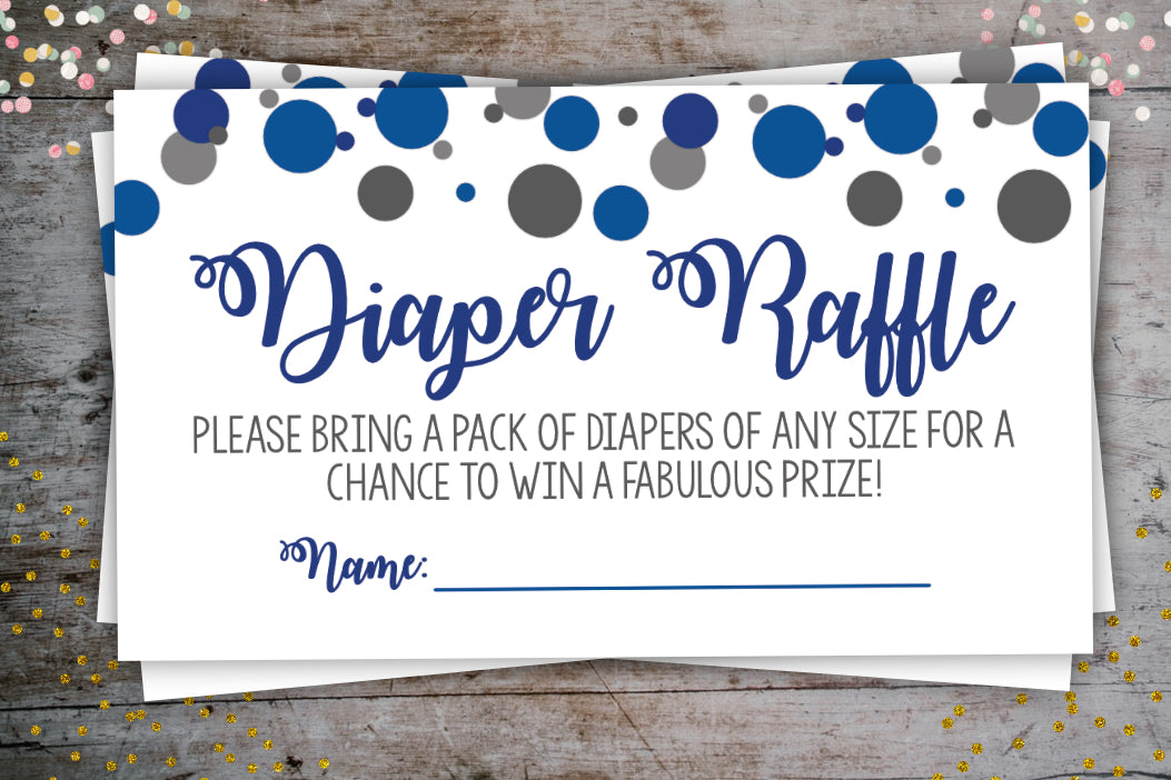 Confetti Diaper Raffle Tickets Confetti Party Package, Digital Download, designLEE Studio, designLEE Studio