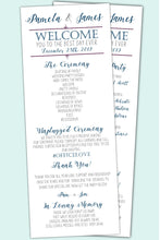 Load image into Gallery viewer, Elegant Wedding Program, Wedding Program, designLEE Studio, designLEE Studio
