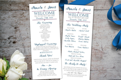 Elegant Wedding Program, Wedding Program, designLEE Studio, designLEE Studio