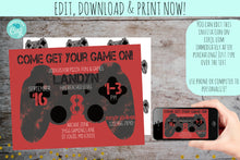 Load image into Gallery viewer, Game On Video Game Controller Birthday Invitation, Birthday Invite, designLEE Studio, designLEE Studio