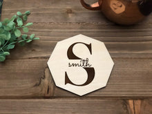 Load image into Gallery viewer, Custom Wood Engraved Coasters | Personalized Drink Coasters x2 Coasters, Personalized Drink Coasters, designLEE Studio, designLEE Studio