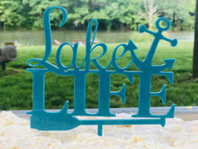 Load image into Gallery viewer, Anchor Cake Topper| Personalized Cake Topper | Cabin Decor | Wedding Gift, Cake Toppers, designLEE Studio, designLEE Studio