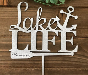 Anchor Cake Topper| Personalized Cake Topper | Cabin Decor | Wedding Gift, Cake Toppers, designLEE Studio, designLEE Studio