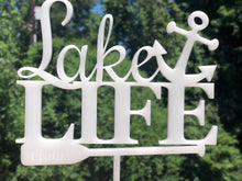 Load image into Gallery viewer, Custom Cake Topper, Anchor Cake Topper, Last Name Cake Topper, Boat Oar Cake Topper, Anniversary Gift, Housewarming Gift, Cabin Decor, Cake Toppers, designLEE Studio, designLEE Studio