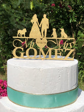 Load image into Gallery viewer, Silhouette Wedding Cake Topper | Personalized Wedding Cake Topper | Dog Cake Topper, Cake Toppers, designLEE Studio, designLEE Studio