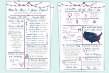 Load image into Gallery viewer, InfoGraphic Wedding Program | Fun Milestone Memory Program, Wedding Program, designLEE Studio, designLEE Studio