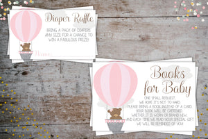 Hot Air Balloon Baby Shower Package For a Girl |  Up, Up, & Away Party Invitation, Baby Shower, designLEE Studio, designLEE Studio