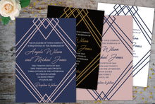 Load image into Gallery viewer, Geometric Wedding Invitation Suite | Wedding Invitation Package, Wedding Invitation Suite, designLEE Studio, designLEE Studio