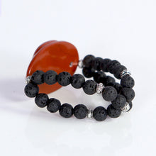 Load image into Gallery viewer, Red Jasper Lava Beads Bracelet