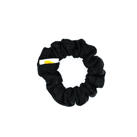Black Ribbed Mini Scrunchie