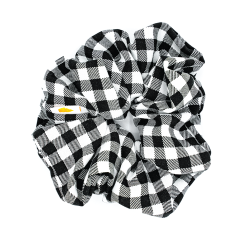 Gingham Jumbo Scrunchie